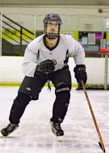 hockey player skating